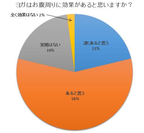ヨガお腹周りダイエット円グラフ