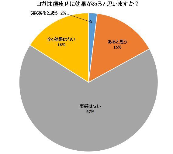 ヨガ顔ダイエットの円グラフ